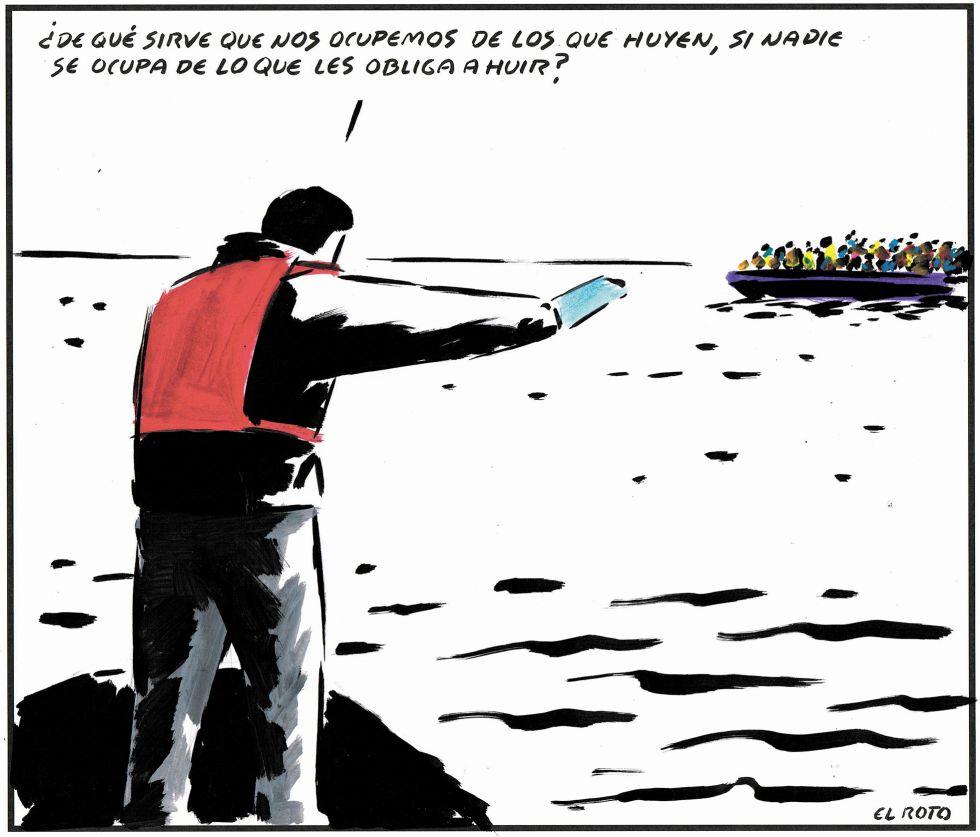 """Fabuloso El Roto la clava sobre la crisis de los """"refugiados"""" UN92"""